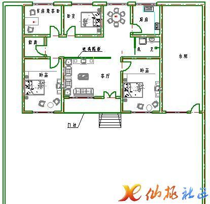 农村房屋平房和农村两层楼房设计图-青岛新房